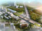 Foto da rendição do planeamento de cidade 3D do verde da vista aérea