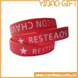 Qualitäts-Bildschirm gedruckte Silikon-Handgelenk-Bänder für das Bekanntmachen des Geschenks (YB-w-004)