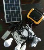 осветительная установка 3PCS 3W солнечная СИД с игроком карточки SD дистанционного управления заряжателя USB FM Radio
