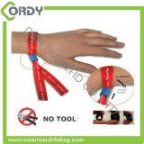 wristband tecido NFC Ultralight da tela RFID do pagamento MIFARE C do concerto do evento do festival