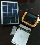 Sistema de iluminación solar del LED con el jugador de tarjeta teledirigido del SD del cargador de radio del USB de FM