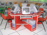 Jogo durável da mobília da cadeira de tabela do computador da escola