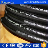 Mangueira de borracha hidráulica industrial de alta pressão flexível do petróleo de En853 1sn
