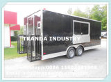Rimorchio mobile d'approvvigionamento dell'alimento di consegna della dogana dell'alimento della cucina della via del camion mobile veloce dell'alimento