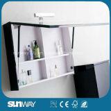 Gabinete de banheiro quente do MDF da pintura do preto da venda com dissipador (SW-1314)