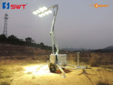 Extra Low Votage 2400W LED Lights Kholerの十分にHydraulic Compact Sunight Lighting Tower
