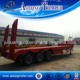 3 Radachse Drop Plattform Semi Trailer, 50 Tons Low Loader Trailer mit 1m Work Bed Height