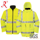 Alta chaqueta de la seguridad de la visibilidad con la cinta reflexiva de los 3m (QF-501)