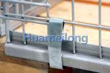 Euro- tipo pálete Stackable galvanizada da gaiola do engranzamento de fio