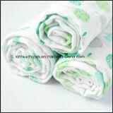 Weiche Baumwolle gedruckte Baby-Gaze-waschbare Musselin-Zudecke