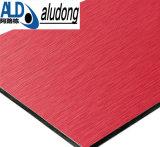 Почищенная щеткой красная алюминиевая составная польза панели для украшения стены или украшения магазина переднего