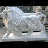Leone bianco di Carrara per la decorazione domestica Ma-190