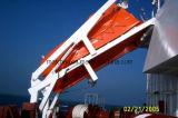 Cerrado de fibra de vidrio de caída libre del bote salvavidas