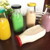 botellas de cristal de leche de 100ml 250ml 500ml con la tapa de la hojalata