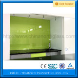 de 3-19m m del chapoteo vidrio para la cocina, vidrio Tempered detrás