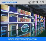 La visualizzazione di LED di buona qualità, P3.91mm ha curvato la visualizzazione di LED locativa