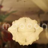 Lumière en soie blanche décorative fabriquée à la main de suspension de cocon de Taraxacum de peau pour la chambre à coucher de salle à manger