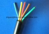 Alambres revestidos del cable eléctrico del PVC de H05VV-F/Rvv, alambre de cobre trenzado flexible
