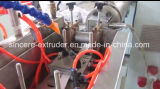 Máquina tricolor de la protuberancia de las bandas de borde del PVC con el estirador de solo tornillo