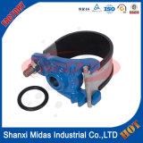 延性がある鉄の管のためのステンレス鋼ベルトが付いているサドルの蛇口