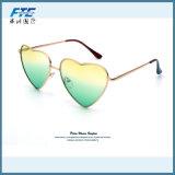 2017 óculos de sol do metal da forma do coração da forma