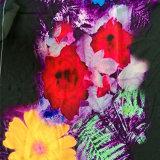 Tela colorida del diseño 40d 80%Nylon 20%Spandex 200GSM de la flor