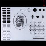 Het Stempelen van de Mat van de Lijst van de Praktijk van de Kunst van de Spijker van het silicone het Hulpmiddel van de Manicure (M32)