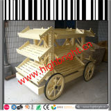 Hölzerne Lastwagen-Form-Bäckerei-Bildschirmanzeige-Karre