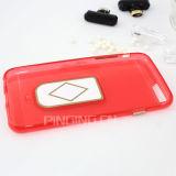 Caja móvil del teléfono celular de TPU Kickstand para el iPhone 6/6s más