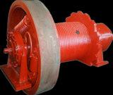 モジュールのトレーラーの回転駆動機構、ワームギヤ減力剤