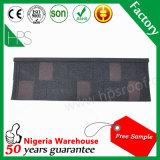 Überzogenes Metalldach-Fliese-Haus-Schindel-Dach-Blatt-Nigeria-Steinlager Afrika