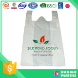 Plastikweste-Griff-Supermarkt-Einkaufstasche mit Drucken