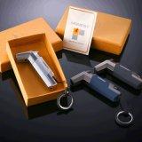 Ehrliches windundurchlässiges Edelstahl-Butan-Fackel-Feuerzeug-Schlüsselring (ES-EB-069)