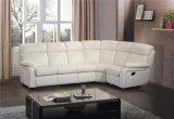 بيضاء لون جلد ركب أريكة مع [ركلينر] [سفا بد]