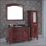 Античный пол конструкции стоя тщета раковины ванной комнаты твердой древесины