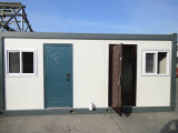 Flat Pack 20ft Container House for Camp avec cuisine / toilette