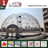 tenten van de Koepel van de Diameter van 9m de Halve met Transparant voor OpenluchtActiviteiten