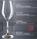 460ml LEED 자유로운 수정같은 사기질 다이아몬드 Deraction 유리 받침 달린 컵
