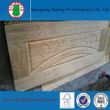 自然な木製のベニヤのHDFによって形成されるドアの皮