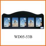 черная деревянная картинная рамка коллажа стены 5-Opening вися (WD05-53B)