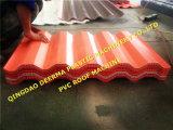 Tuile ondulée de feuille de toiture de PVC effectuant la machine