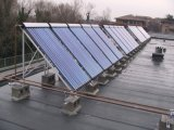 Proyecto solar del calentador de agua de la presión separada