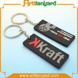 주문을 받아서 만들어진 연약한 고무 PVC Keychain