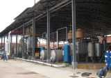 Pneumatico Recycling a Diesel Pyrolysis e a Distillation Plant