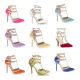 Santals neufs de chaussure de robe de dames de talon haut de mode de ramassage (S18)