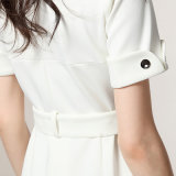 Neues Form Ol Frauen-Dame-Büro-Kleid kleidet dünnes weißes formales Kleid