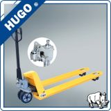 De hydraulische AC Gietende Vrachtwagen van de Pallet van de Hand van de Pomp met het Wiel van Pu