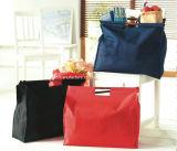 木のハンドルのショッピング・バッグのジュート袋