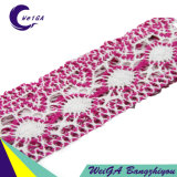 Produzione della fabbrica per sviluppare il merletto di colore del cotone di alta qualità