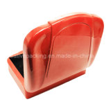 Caja de monedas de madera de color rojo